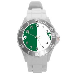 Franco Ontarian Flag Round Plastic Sport Watch (l)