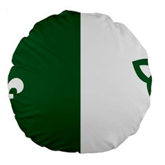 Franco Ontarian Flag Large 18  Premium Round Cushions by abbeyz71