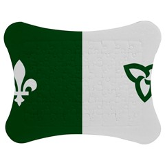 Franco Ontarian Flag Jigsaw Puzzle Photo Stand (bow) by abbeyz71