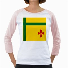 Flag Of The Fransaskois Girly Raglan by abbeyz71