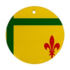 Flag Of The Fransaskois Round Ornament (two Sides) by abbeyz71