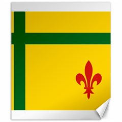Flag Of The Fransaskois Canvas 20  X 24