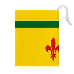 Flag Of The Fransaskois Drawstring Pouch (xl) by abbeyz71