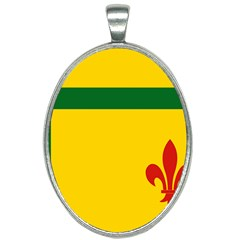 Flag Of The Fransaskois Oval Necklace