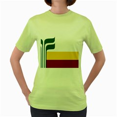Flag Of Franco Manitobans Women s Green T Shirt