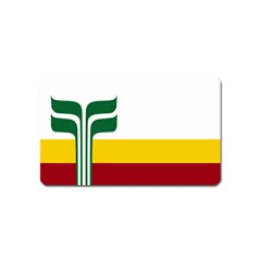 Flag Of Franco-manitobans Magnet (name Card) by abbeyz71