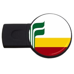 Flag Of Franco Manitobans Usb Flash Drive Round (4 Gb)