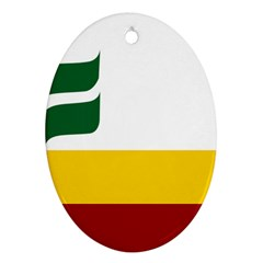 Flag Of Franco Manitobans Oval Ornament (two Sides) by abbeyz71