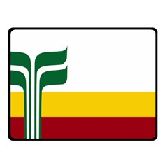 Flag Of Franco Manitobans Double Sided Fleece Blanket (small)
