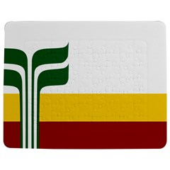 Flag Of Franco-manitobans Jigsaw Puzzle Photo Stand (rectangular) by abbeyz71