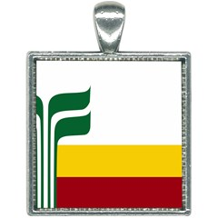 Flag Of Franco Manitobans Square Necklace by abbeyz71