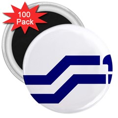 Flag Of The Franco Columbians 3  Magnets (100 Pack)