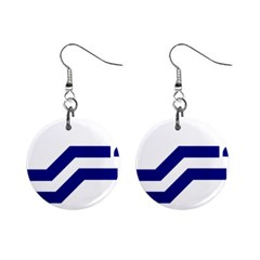 Flag Of The Franco Columbians Mini Button Earrings by abbeyz71