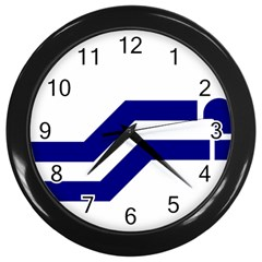 Flag Of The Franco Columbians Wall Clock (black) by abbeyz71