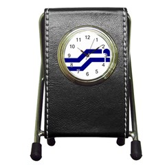Flag Of The Franco Columbians Pen Holder Desk Clock by abbeyz71