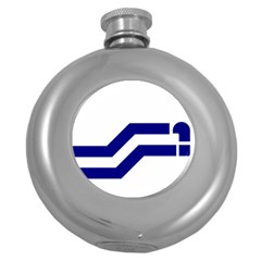 Flag Of The Franco Columbians Round Hip Flask (5 Oz) by abbeyz71