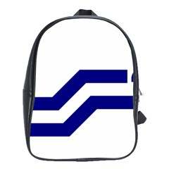 Flag Of The Franco Columbians School Bag (large)