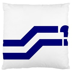 Flag Of The Franco Columbians Large Cushion Case (one Side) by abbeyz71