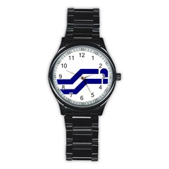 Flag Of The Franco Columbians Stainless Steel Round Watch by abbeyz71