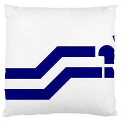 Flag Of The Franco Columbians Large Flano Cushion Case (two Sides) by abbeyz71