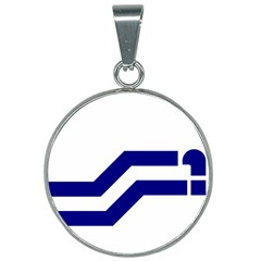 Flag Of The Franco Columbians 25mm Round Necklace by abbeyz71