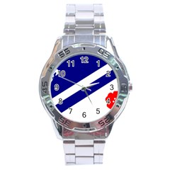 Franco Albertan Flag Stainless Steel Analogue Watch by abbeyz71