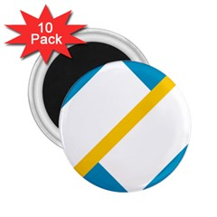 Flag Of The Franco Yukonnais 2 25  Magnets (10 Pack)