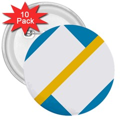 Flag Of The Franco Yukonnais 3  Buttons (10 Pack)  by abbeyz71