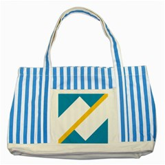 Flag Of The Franco Yukonnais Striped Blue Tote Bag