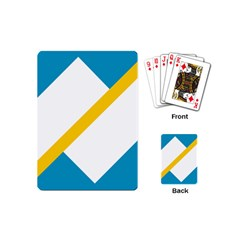 Flag Of The Franco Yukonnais Playing Cards (mini)