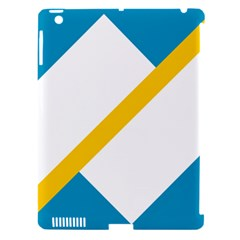 Flag Of The Franco Yukonnais Apple Ipad 3/4 Hardshell Case (compatible With Smart Cover)