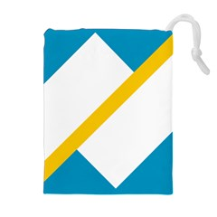 Flag Of The Franco Yukonnais Drawstring Pouch (xl) by abbeyz71