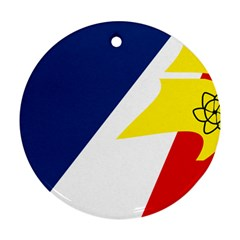Franco Terreneuviens Flag Ornament (round)