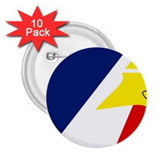 Franco Terreneuviens Flag 2 25  Buttons (10 Pack)  by abbeyz71