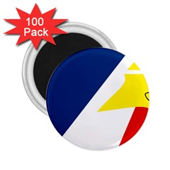 Franco Terreneuviens Flag 2 25  Magnets (100 Pack)