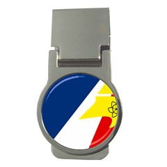 Franco Terreneuviens Flag Money Clips (round)