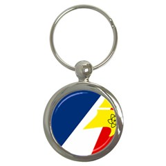 Franco Terreneuviens Flag Key Chains (round)