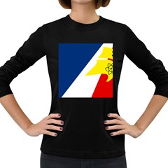 Franco Terreneuviens Flag Women s Long Sleeve Dark T Shirt