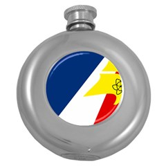 Franco Terreneuviens Flag Round Hip Flask (5 Oz)