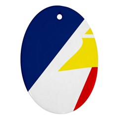 Franco Terreneuviens Flag Oval Ornament (two Sides) by abbeyz71