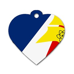 Franco Terreneuviens Flag Dog Tag Heart (two Sides) by abbeyz71