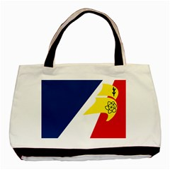 Franco Terreneuviens Flag Basic Tote Bag (two Sides) by abbeyz71