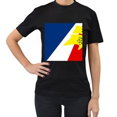 Franco Terreneuviens Flag Women s T Shirt (black) by abbeyz71