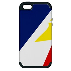 Franco Terreneuviens Flag Apple Iphone 5 Hardshell Case (pc+silicone)