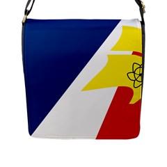 Franco Terreneuviens Flag Flap Closure Messenger Bag (l)