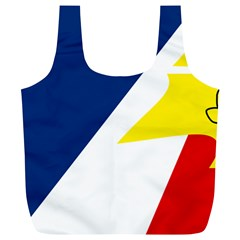 Franco Terreneuviens Flag Full Print Recycle Bag (xl)