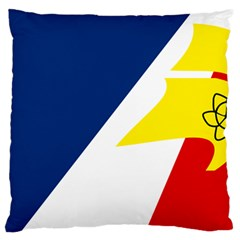 Franco Terreneuviens Flag Standard Flano Cushion Case (one Side)