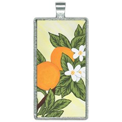 Orange Blossoms Rectangle Necklace by lwdstudio