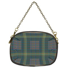 Plaid Pencil Crayon Pattern Chain Purse (two Sides)