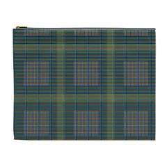 Plaid Pencil Crayon Pattern Cosmetic Bag (xl)